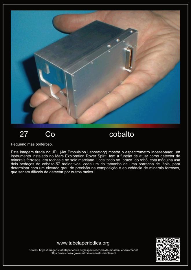 elemento químico cobalto na astronomia