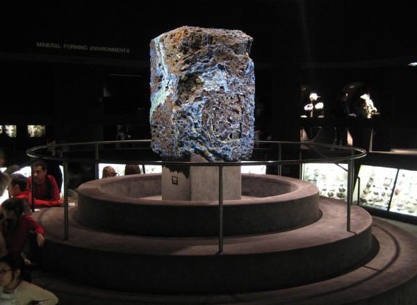 rocha museu americano malaquita azurita