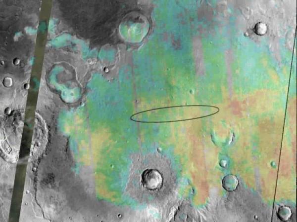 sandagem de hematita em Marte