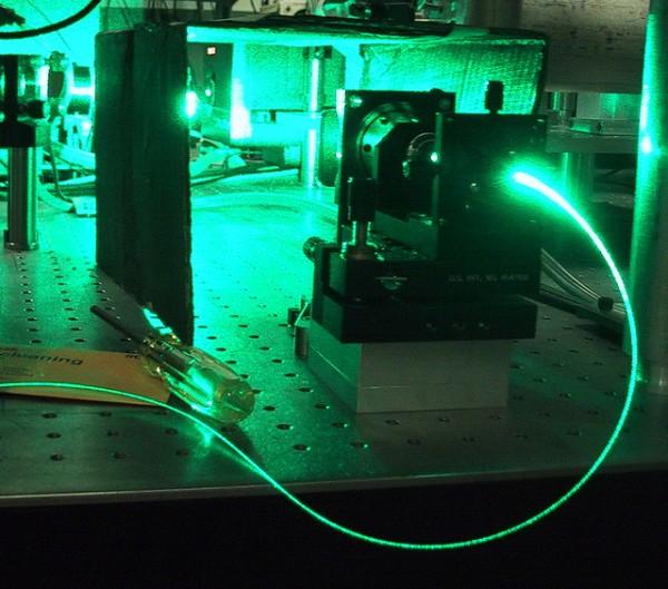 argônio luz verde