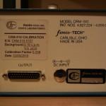 conectores e painel do equipamento