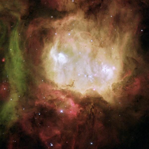 imagem registrada pelo telescópio espacial hubble