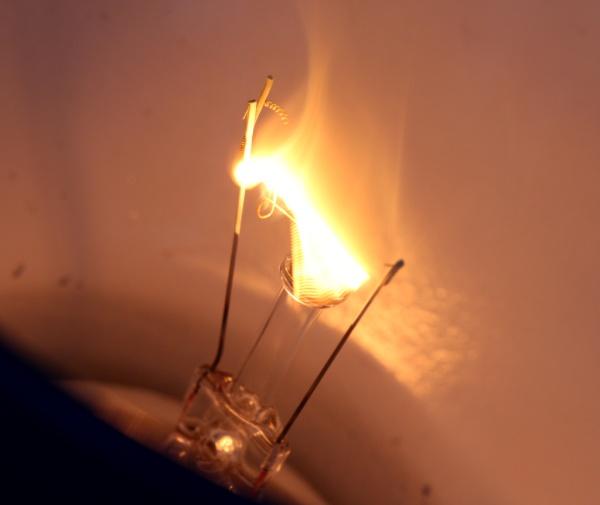 queima de uma lampada