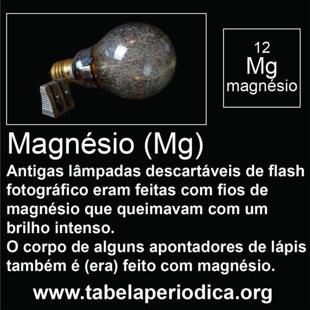 magnésio em flash descartável e apontador