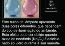bulbos de lâmpadas com duas cores