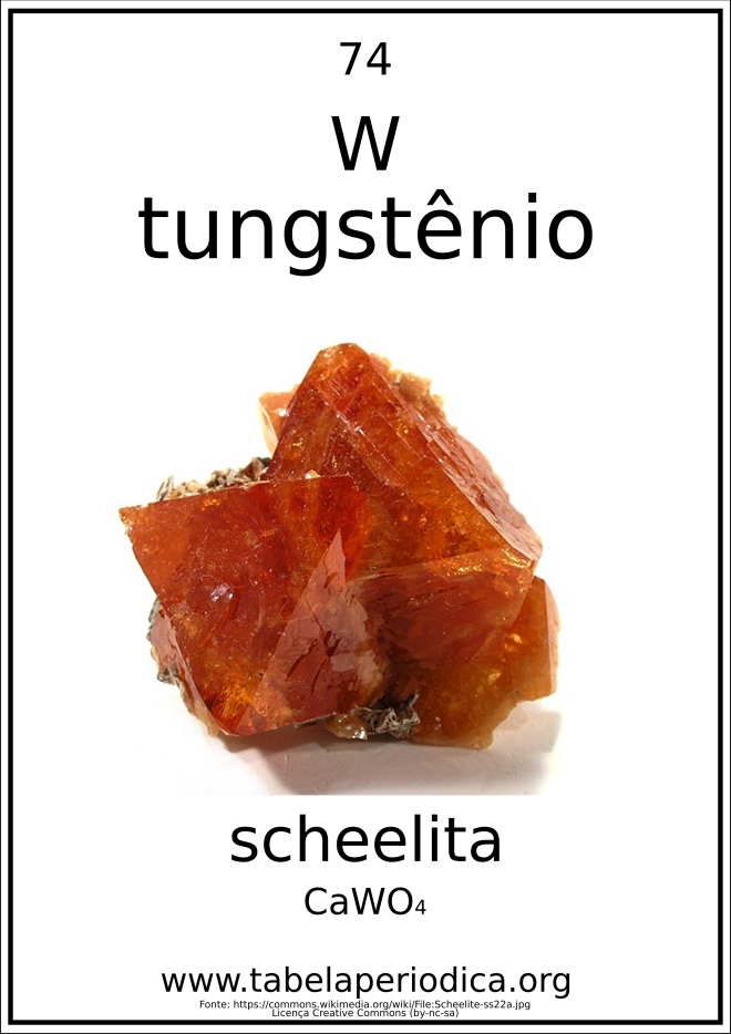 tungstênio em mineral