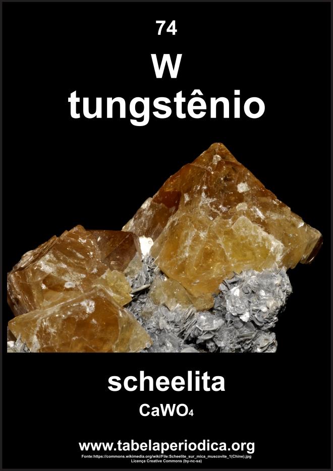 Scheelita e tungstênio