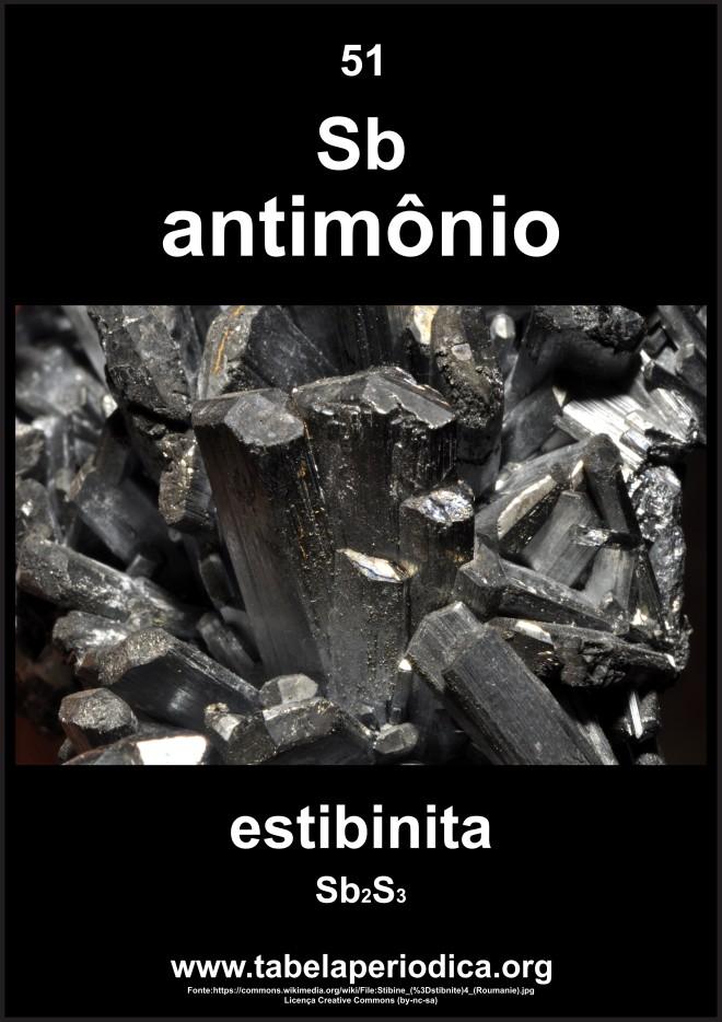 mineral estibina que contém antimônio