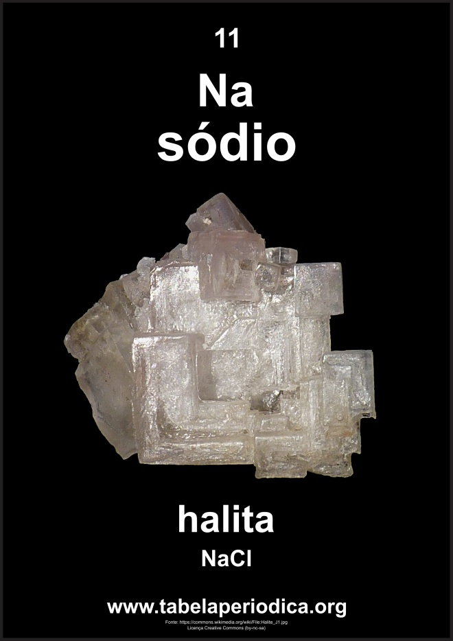 halita contém sódio