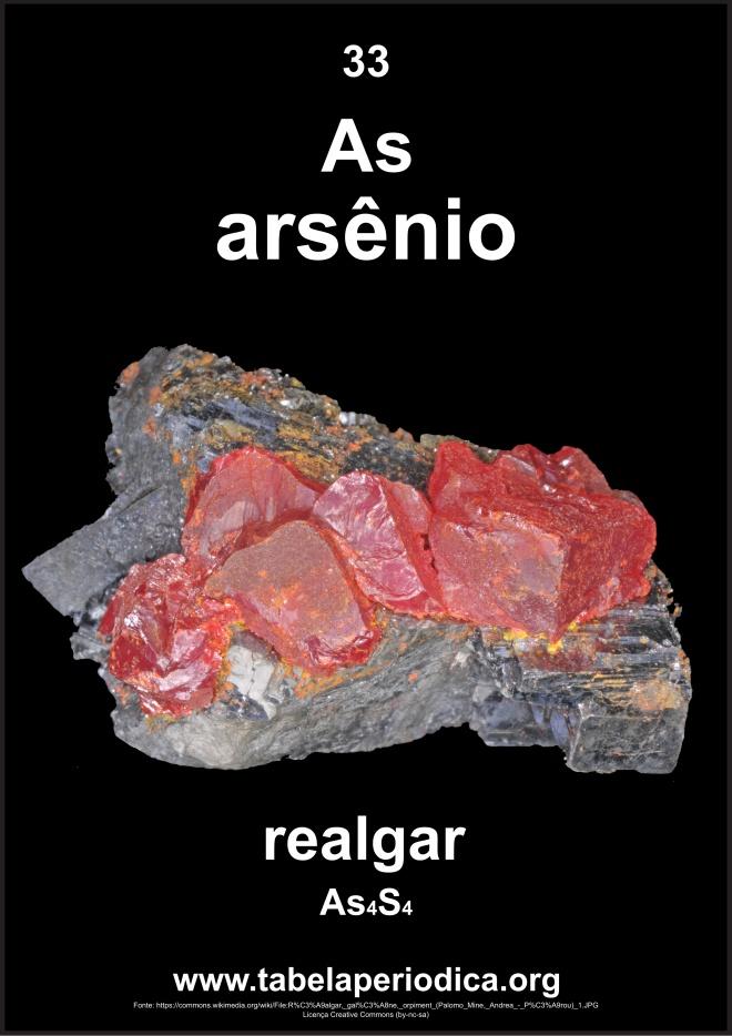 fonte do elemento arsênio