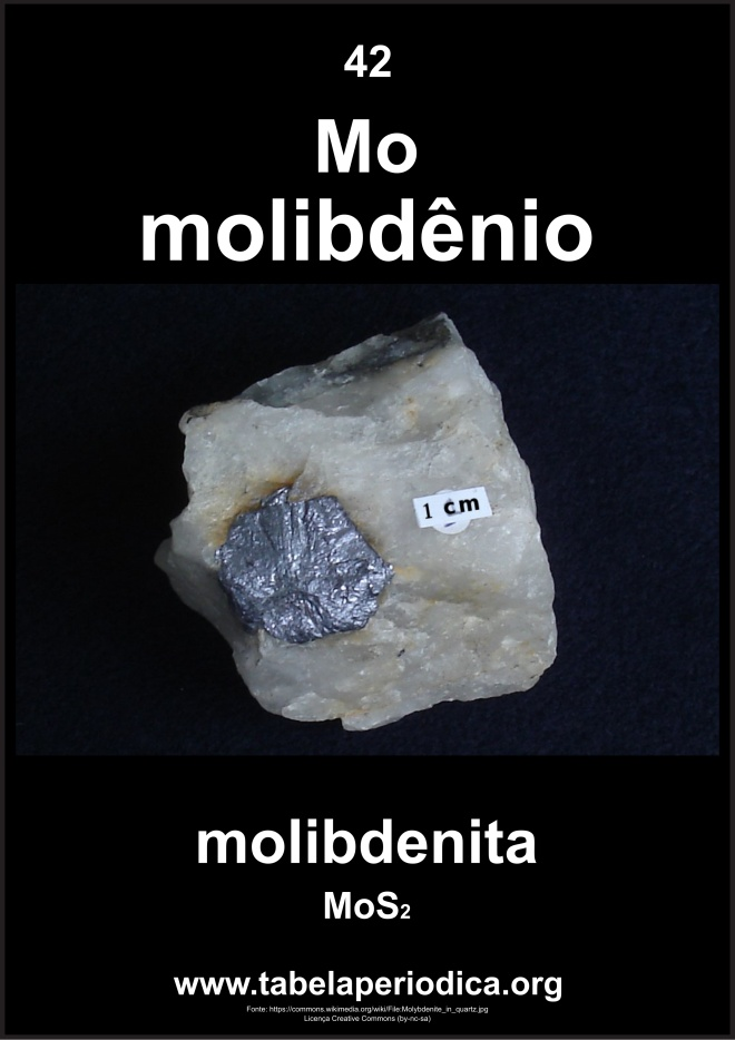 amostra de bissulfeto de molibdênio