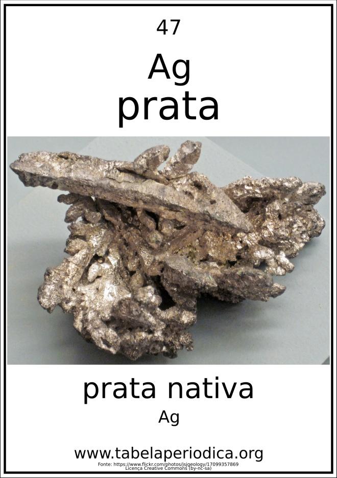 amostra de prata natural