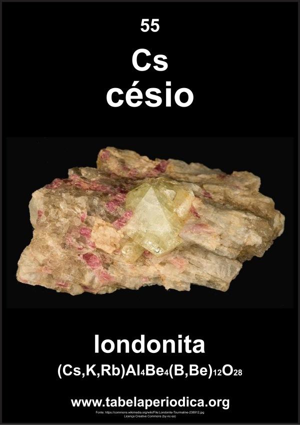 mineral que contpem césio
