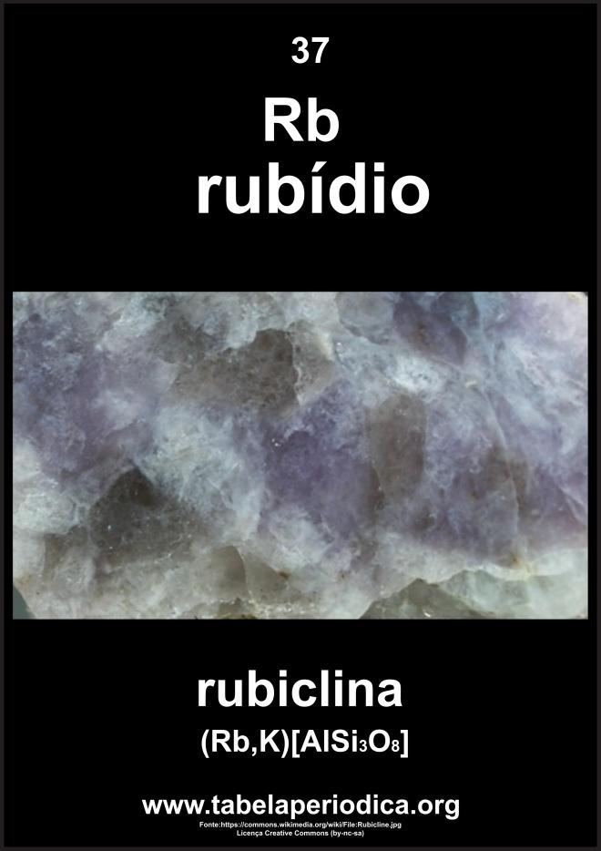 mineral que contém o elemento rubídio em sua composição