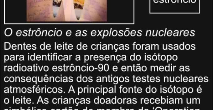 Isótopo estrôncio-90 e as explosões nucleares