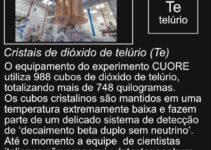 Cubos de dióxido de telúrio
